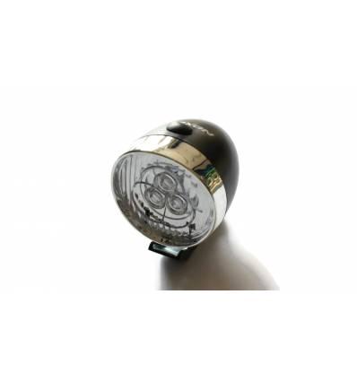 Lampa rowerowa Nexelo przód 3 LED retro na baterie, czarna