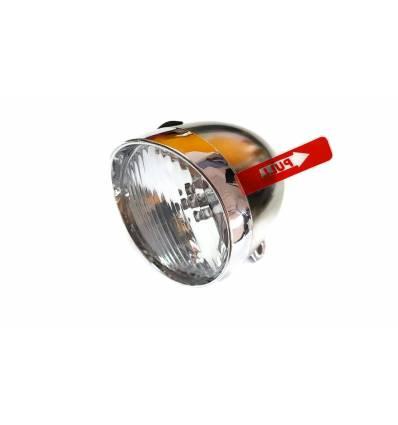Lampa rowerowa przód 3 LED retro na baterie