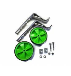 Kółka rowerowe boczne podporowe zielone 12'' - 20''