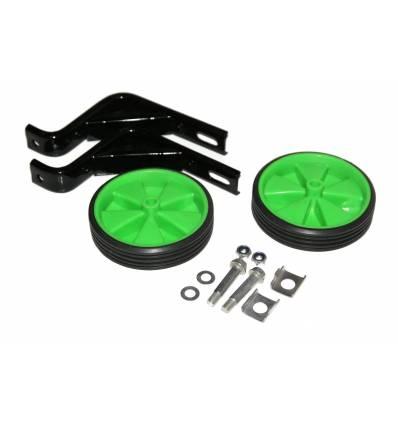 Kółka rowerowe boczne podporowe zielone 16''