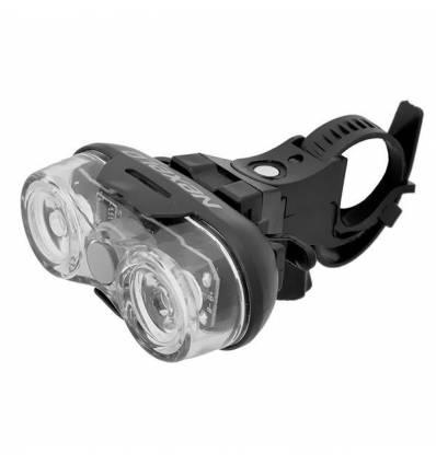 Lampa bateryjna przód Nexelo, 2 LED, 3 funkcje