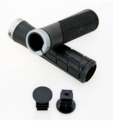 Chwyty kierownicy JET 130 mm + obejma aluminiowa