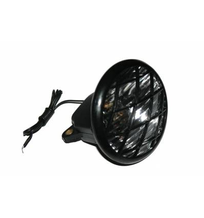 Lampa przód na dynamo, czarna QD-102