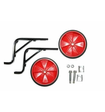 """Kółka rowerowe boczne podporowe czerwone 16"""""""